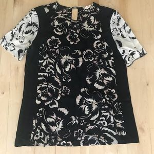 Rebecca Taylor silk floral blouse size 4